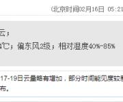 深圳天气(2.16):晴天间多云 气温15-24℃