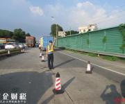 国庆假期前两天,虎门大桥路政员走了760公里